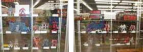 タム・タム尼崎店プラモデルコンテスト出展作品の展示風景